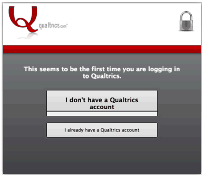 First time login for Qualtrics