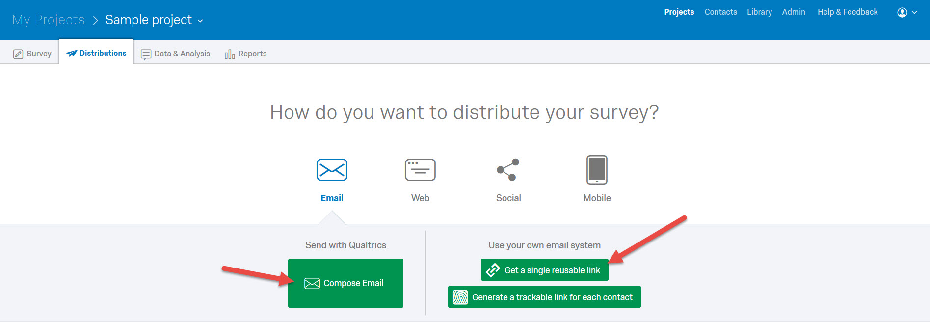 How to distribute the survey